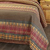 The Lakeside Collection Gold Rush Oversized Plaid Bed Top Quilt with...