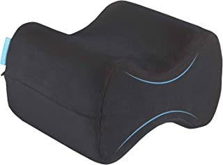 Bonmedico Almohada de Rodilla Ergonómica para Personas Que Duermen de Lado, Almohada de Espuma de Memoria para Las Piernas, Negra