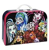 alles-meine.de GmbH Valise pour enfant Monster High – Grande valise en carton pour poupée fille poupée gothique rose