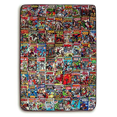 Surreal Entertainment Marvel Comics Oversized Fleece Throw Blanket With Spider-Man, Captain America, Black Panther, More | 54 x 72 Inches, One Size, Red