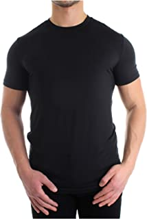 DSQUARED2 Camisetas De Hombre De Cuello Redondo Modal De 2 Paquetes, Negro