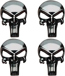 Creatrill Gunmetal Plating 3D Metal Decal/Sticker - Tactical Skull for Gun Magazine, Magwell, Mag, Car, Truck, Motorcycle, etc