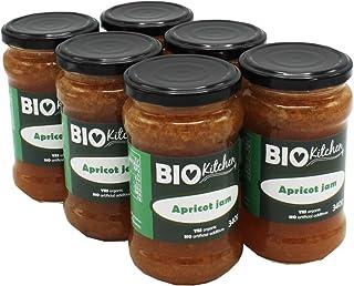 BioKitchen - Mermelada de albaricoque ecológica (6 envases de 340 g)