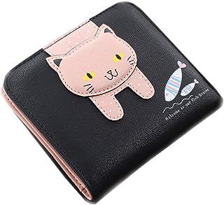 ミニ財布 カワイイ コンパクト ねこ ウォレット  母の日プレゼント カード小銭入れ  金運アップ 女性用 友達  家族にプレゼント 多機能  シンプル  上品  優雅 ピンク ブルー ブラック