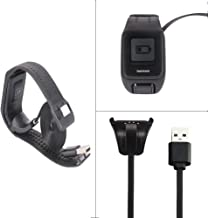 Tomtom Spark Cardio Charger Cable, Replace USB Charging Cable Clip Charger Cradle Charging Dock for Tomtom Spark Cardio/Tomtom Spark Cardio + Music/Spark 3 Cardio GPS Fitness Watch