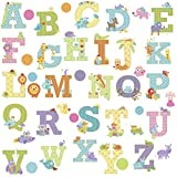 Thedecofactory RMK2334SCS Animal Alphabet Dena Designs Peel and Stick Wall Decals...