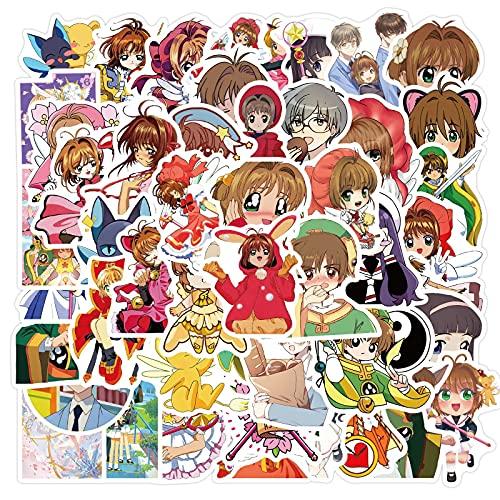Cardcaptor Sakura Stickers for Water Bottles 50pcs Waterproof Cute Aesthetic Trendy Stickers for Teens Kids Girls and Boys, Perfect for Laptop Notebook Travel Durable (Cardcaptor Sakura)
