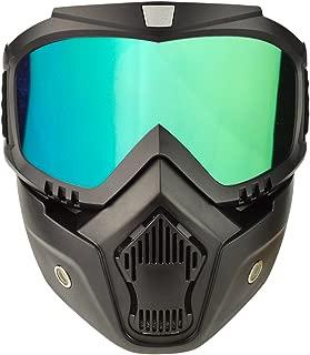 Motorcycle Goggles Mask Detachable, Vintage Open Face Helmet Mask Detachable Sunglasses Protect Padding Ski Motocross Goggles Harley Helmet Sunglasses, Road Riding UV Motorbike Glasses