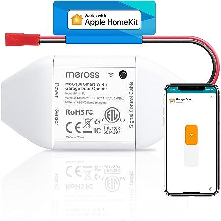Abridor de Puertas de Garaje Inteligente Wi-Fi, Compatible con HomeKit, Google Asistente y SmartThings, MSG100HK.Color Blanco.