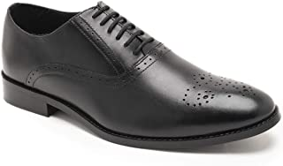 HATS OFF ACCESSORIES Genuine Leather Black Oxofrd Shoes with Punch Cap