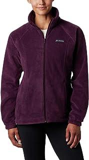 Columbia Women`s Benton Springs Full Zip Jacket, Soft Fleece with Classic Fit, Black Cherry, Petite Medium