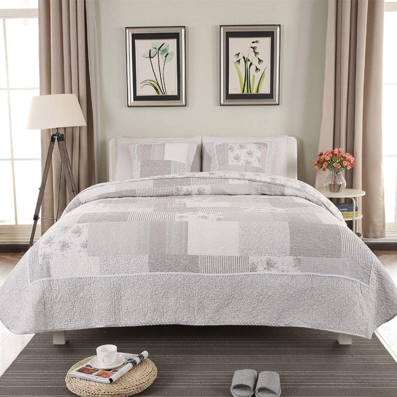 Zyl Matelassé Couvre-lit 3pcs Comforter Bed Set Double King Taille 240cm X 250cm,A-240CM250CM+55CM55CM2