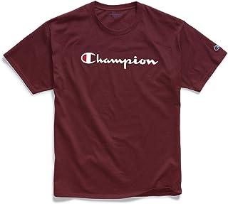 Champion Men's Classic T-Shirt, Screen Print Script, Maroon-Y07718, X- Large