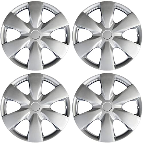 lowest 15 inch Hubcaps Best for 2006-2006 Toyota XA - (Set of 4) Wheel Covers 15 inch Hub Caps Silver Rim Cover outlet sale - Car Accessories for 15 inch Wheels sale - Snap On Hubcap, Auto Tire Replacement Exterior Cap online sale