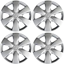 15 inch Hubcaps Best for 2007-2009 Toyota Prius - (Set of 4) Wheel Covers 15in Hub Caps Silver Rim Cover - Car Accessories for 15 inch Wheels - Snap On Hubcap, Auto Tire Replacement Exterior Cap)