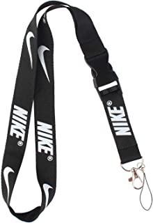Lanyard Keychain Holder Keychain Key Chain Black Lanyard Clip with Webbing Strap (Nike)
