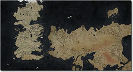 The gift game of thrones map