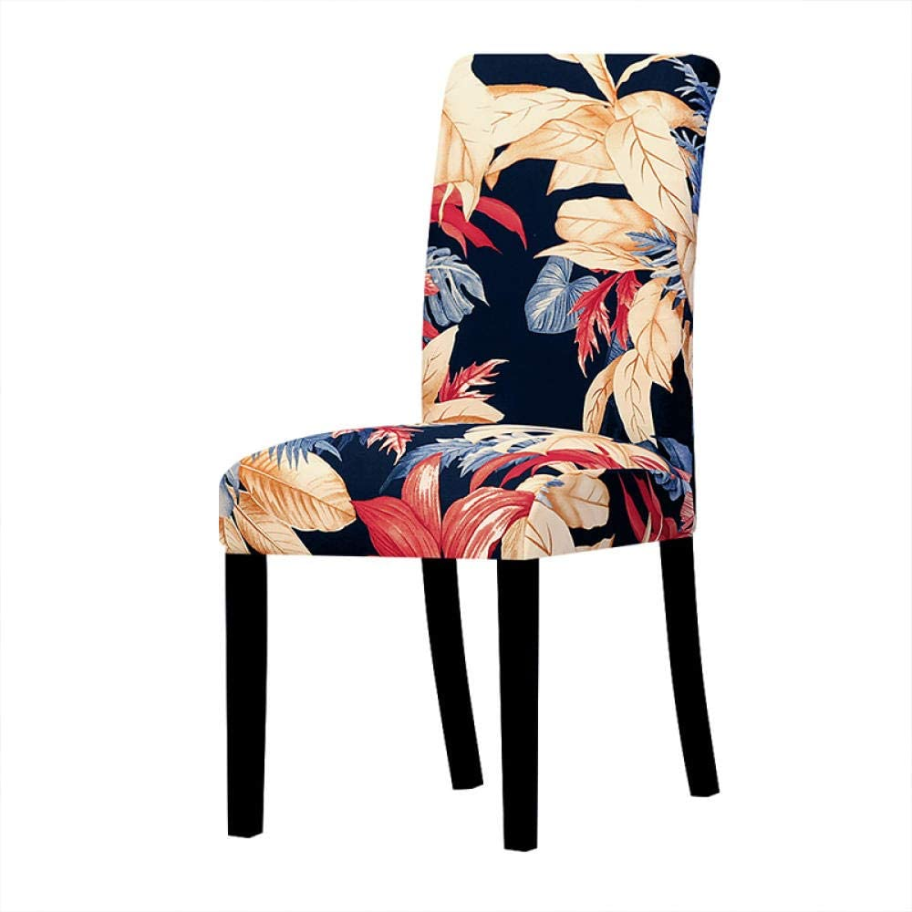 LZHLMCL Max 69% OFF Kitchen Chair Slipcovers Cheap Printed Elastic Stretch Leaves
