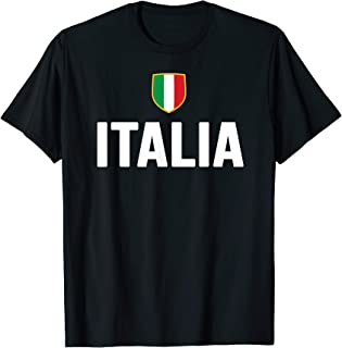 Italia T-Shirt Italian Pride Italy Flag Italiana Gift Roots