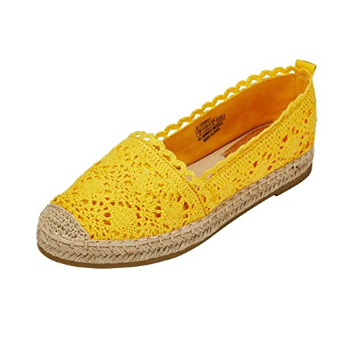 ff30b22e24e Espadrille Sneakers for Women  Hollow Canvas Casual Flats Classic Slip-On  Comfortable Shoes