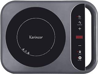 Karinear Plaque à induction Portable avec Poignée - Plaque de cuisson à induction 2000W, Commande tactile, Minuterie, Affi...