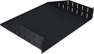 "TCH Hardware 2U Space Server AV Rack Mount Utility Shelf - Black Steel 15"" Deep"