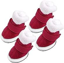 Khaki Warme Winter Kaschmir Kleine Mittlere Hundewelpen Schuh Welpen Chihuahua Schneeschuhe M
