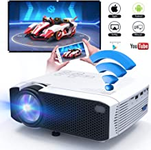 WiFi Video Projector 2800 Lumens, DIWUER Portable Mini Projectors for Home Outdoor Movie, USB Directly Connect with Smartphones, Support Full HD 1080P, USB, HDMI, VGA, AV, SD