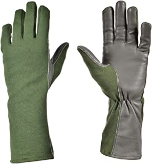 Nomex Flight Gloves Military Flight Gloves Nomex Gloves Olive drab Best Leather Aviator Gloves and Pilot Gloves Nomex