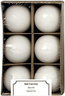 No Scent Ball Candle 6pk