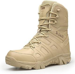 WOJIAO Bottes Militaires de Plein air pour Hommes Printemps et été Chaussures de randonnée Bottes de Neige Tactiques Comma...