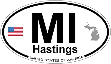 Hastings, Michigan Oval Magnet