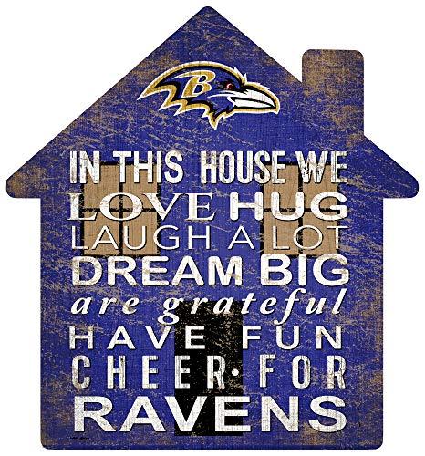 NFL Baltimore Ravens Unisex Baltimore Ravens House Sign, Team Color, 12 inch