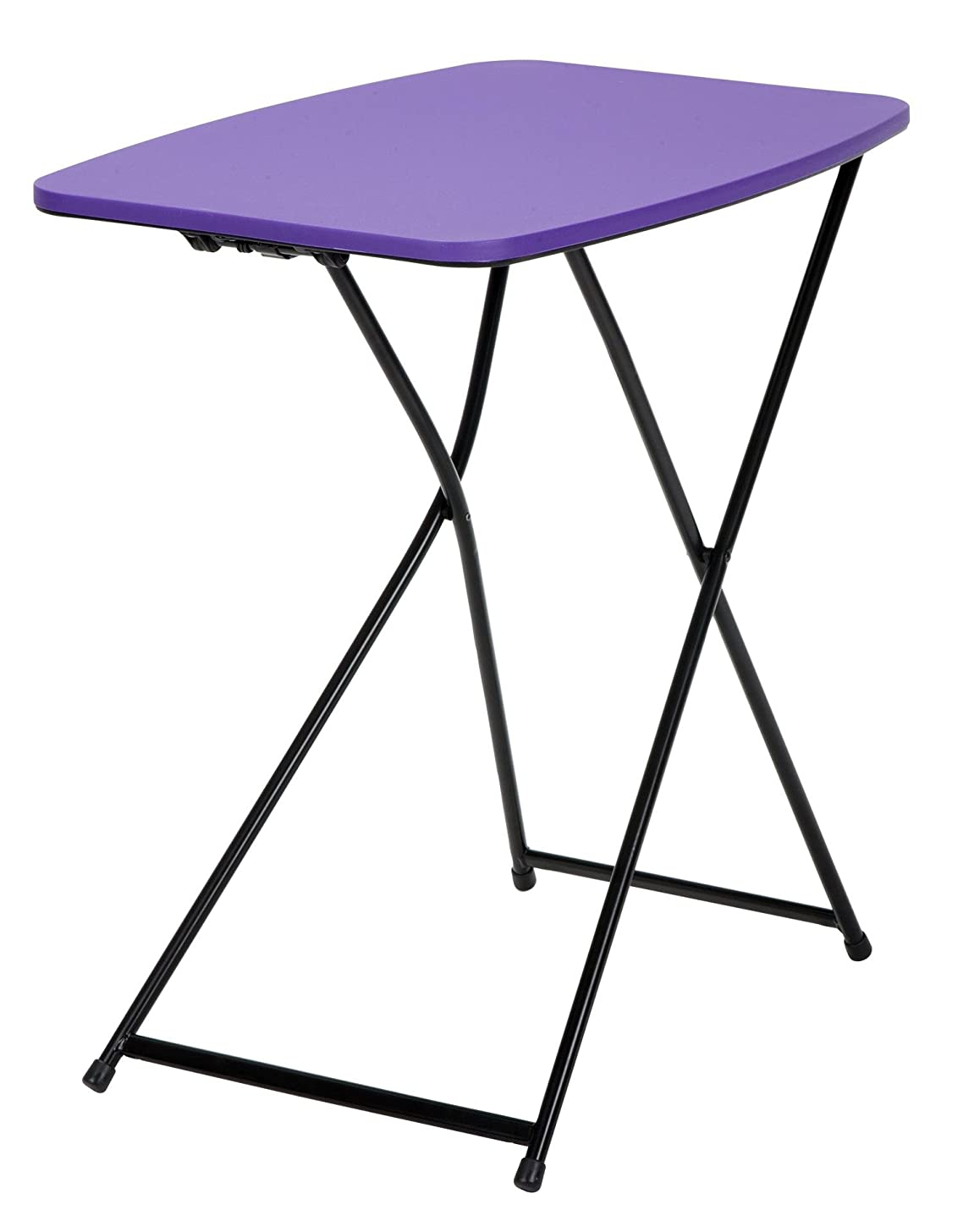 """COSCO 18"""" x 26"""" Indoor Outdoor Adjustable Height Personal Folding Tailgate Table, Purple, 2-pack"""