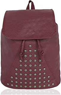 Kleio Designer Studded PU Backpack for Women/Girls for College/Outings