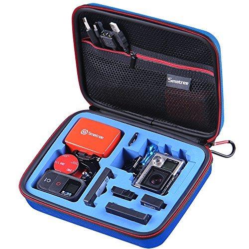 """Smatree SmaCase G160s Medio Custodie per Gopro HD Hero4, 3+, 3, 2, 1 macchine fotografiche e accessori essenziali (8.6"""" x6.7"""" x2.7"""") - Custodia con alta densità eccellente Cut schiuma EVA - Ideale per Viaggi o Home Storage - Protezione perfetta per GoPro Videocamere - Copertina blu con blu schiuma Interior"""