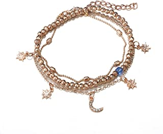 Fashion Multilayer Beaded Anklet Love Heart Ankle Bracelet Jewelry by Richapex
