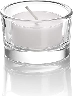 "Elivia Clear Tealight Candle Holders - Set of 18, Round Glass Candle Holder, 2"" Diameter - CH03"