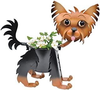 Painted Yorkie Planter - Dog Indoor or Outdoor (Garden) Décor Plant Stands. Holds 4