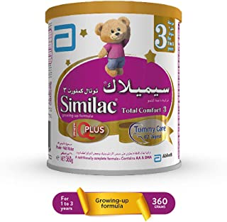 Similac Total Comfort 3 Growing Up Formula Milk For 1-3 Years Old, 360g
