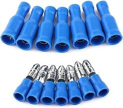Heschen Lot de 100 connecteurs thermor/étractables BHT0.5/0,2 gaine 26/–22/AWG tube Jaune 0,5/mm/² pour c/âble /électrique