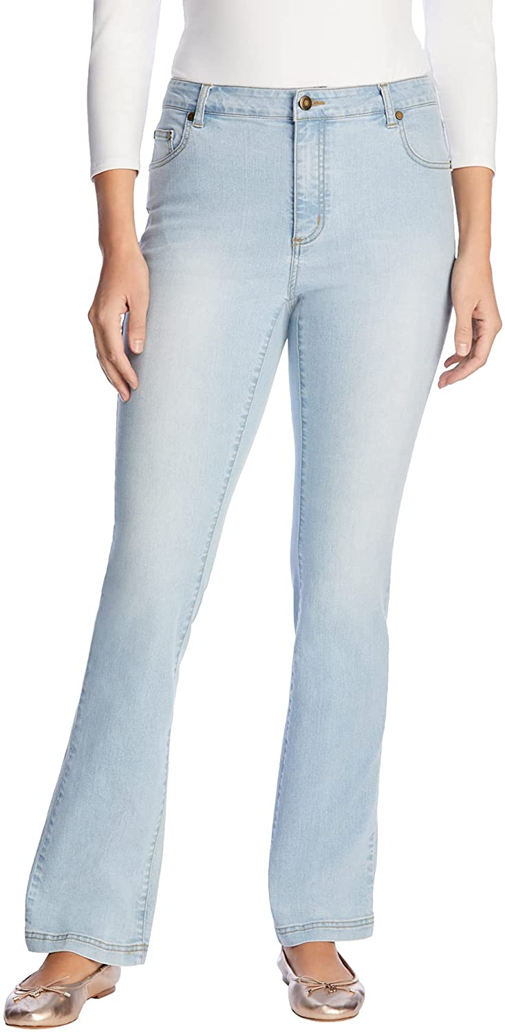 Woman Within Women's New Free Shipping Plus Size Attention brand Stretch Bootcut Jean Petite