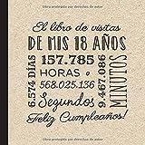 El libro de visitas de mis 18 años: Decoración retro vintage para el 18 cumpleaños – Regalos originales para hombre y mujer - 18 años - Libro de firmas para felicitaciones y fotos de los invitados
