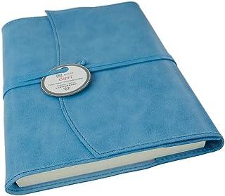 Capri Leder Nachfüllbares Notizbuch Aeroblau, A5 Blanko Seiten - Handgefertigt in Italien von LEATHERKIND B079YT8KG8  Zuverlässiger Ruf
