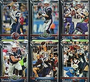 New England Patriots 2015 Topps NFL Football Complete Regular Issue 17 Card Team Set Including Tom Brady, Rob Gronkowski, Julian Edelman Plus