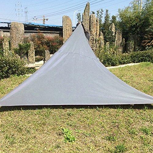 Hjuns® Auvents et auvents de patio de triangle, tente portative de protection solaire de piscine de patio de jardin, tente extérieure de pique-nique de camping