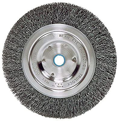 """Weiler 6645 Vortec Pro 6"""" Bench Grinder Wheel, Wide Face"""