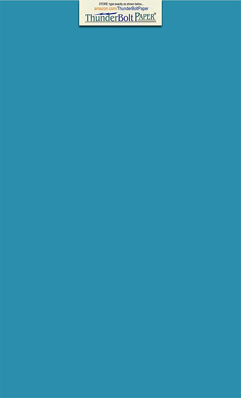 50 Bright Aqua Blue Cardstock 65lb Cover Paper 8.5 X 14 Inches Legal|Menu Size - 65 lb/pound Light Weight Cardstock - Quality Smooth Paper Surface