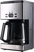 SharkNinja CF092 PowerDoF CM6626T 12-Cup Glass Carafe Programmable Coffee Maker, Small, Black/Stainless Steel