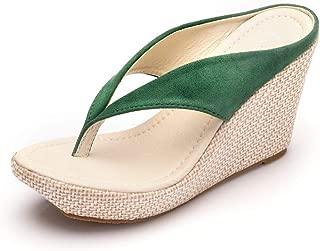 Women Platform Wedges Beach Sandals Platform Wedges Sandals High Heels Wedges Slippers Flip Flops